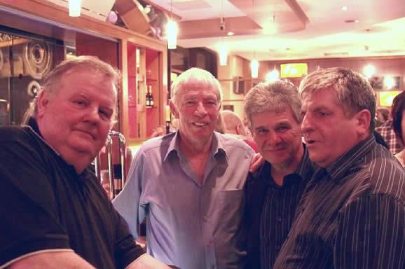 The Jolly Boys at the bar! Alan O'Leary (Author), Liam Farrell, Billy McComiskey & Brendan McHugh